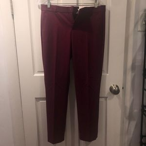 Pants - Burgundy suit pants